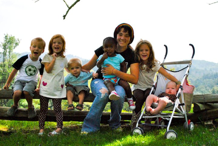 Our kids with Paige, spring 2010