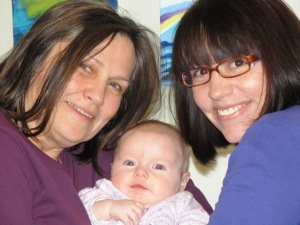 With my mom and Maggie, February 2013