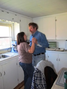 My parents showing off their moves, February 2013