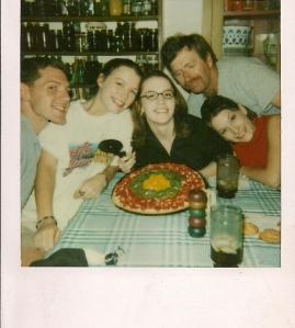 Celebrating my birthday, circa 1998