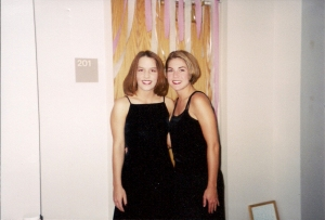 With my friend Amy, sophomore year of college
