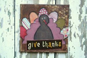 My turkey painting by Michelle Young of MY Moments