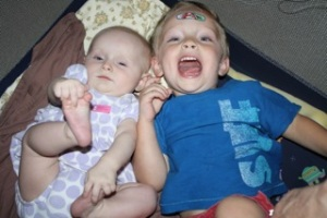 Two of Betty Gail's grandbabies, currently living in Asia