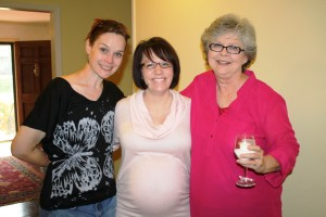With two of my favorite do-gooders at my baby shower, 2012