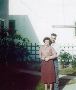 My parents outside their first apartment in Long Beach, California